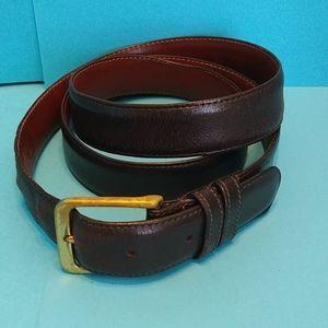 "COACH Genuine leather belt mocha brass buckle 40"""